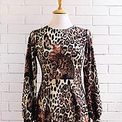 """Одежда ручной работы. Ярмарка Мастеров - ручная работа Платье""""Кошки"""" из трикотажа в стиле Dolce&Gabbana. Handmade."""