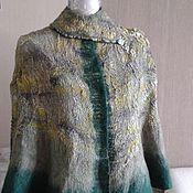 """Одежда ручной работы. Ярмарка Мастеров - ручная работа Кейп-Жакет """"Таежная сказка"""" из шерсти на шелке с шелковой подкладкой. Handmade."""