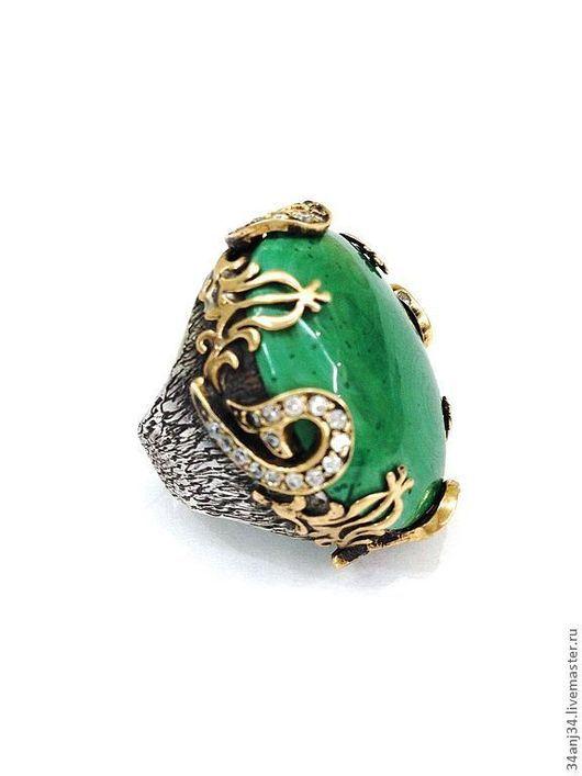 """Кольца ручной работы. Ярмарка Мастеров - ручная работа. Купить Кольцо """" Малахитовая Рапсодия """". Handmade. Зеленый, малахит"""
