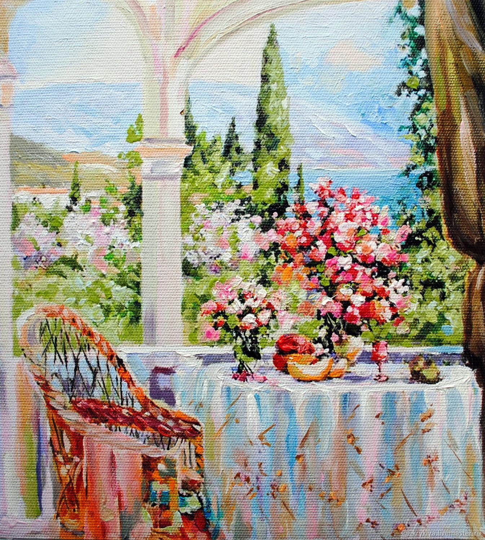 "Картина маслом ""Летняя романтика"", Картины, Таганрог,  Фото №1"