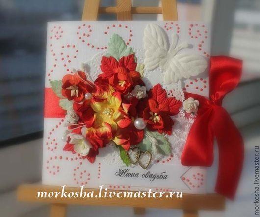 """Свадебные открытки ручной работы. Ярмарка Мастеров - ручная работа. Купить Cd box/конверт для дисков """"Розы любви"""". Handmade."""