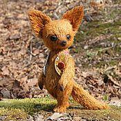 Куклы и игрушки ручной работы. Ярмарка Мастеров - ручная работа Рыжий Лис в жилетке. Handmade.