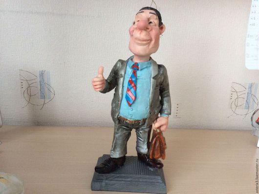 Коллекционные куклы ручной работы. Ярмарка Мастеров - ручная работа. Купить Руководитель. Handmade. Серый, полимерная глина