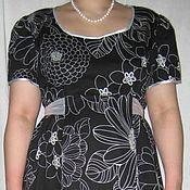 """Одежда ручной работы. Ярмарка Мастеров - ручная работа Платье """"для двоих"""" черно-белое. Handmade."""