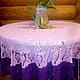 """Текстиль, ковры ручной работы. Ярмарка Мастеров - ручная работа. Купить Скатерть """"Каприз"""". Handmade. Скатерть, украшение для дома"""