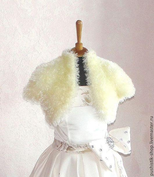 """Одежда для девочек, ручной работы. Ярмарка Мастеров - ручная работа. Купить Болеро """"Шампань"""". Handmade. Лимонный, болеро, 100% полиэстер"""