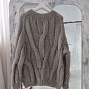 Одежда handmade. Livemaster - original item Pearl sweater of universal beige color. Handmade.