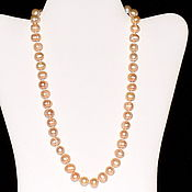 Работы для детей, handmade. Livemaster - original item Beads made from natural cream pearls. Handmade.