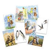 Сувениры и подарки handmade. Livemaster - original item Cards for lovers ` Set of 8 PCs. Handmade.