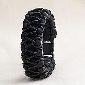 Украшения ручной работы. Ярмарка Мастеров - ручная работа Браслет из паракорда с кожаным шнуром. Handmade.