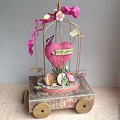 Открытки ручной работы. Ярмарка Мастеров - ручная работа Коробочка с выдвижным ящичком Бабочки моего сердца. Handmade.