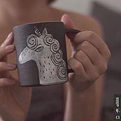 Посуда ручной работы. Ярмарка Мастеров - ручная работа Кружка керамическая Единорог. Handmade.