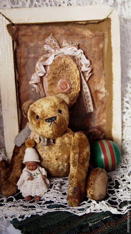 Мишки Тедди ручной работы. Ярмарка Мастеров - ручная работа. Купить Старые игрушки ..Мишка. Handmade. Коричневый, интерьерная игрушка