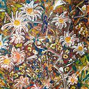 Картины и панно handmade. Livemaster - original item Flower fields. Mixed media.. Handmade.