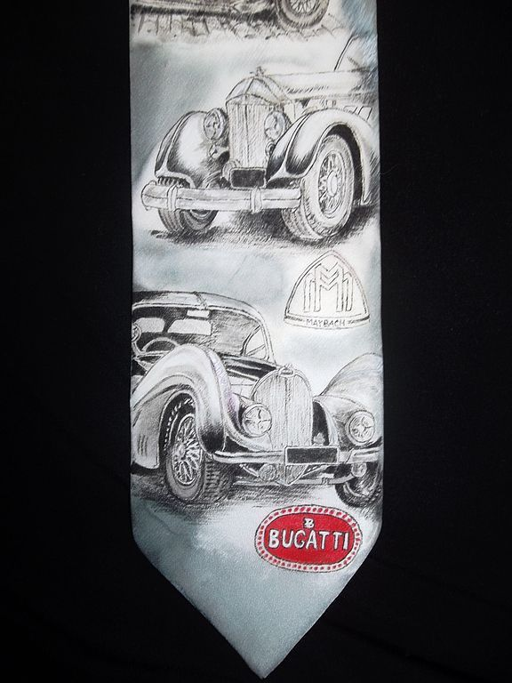 "Галстук ""Ретро автомобили"", Галстуки, Челябинск,  Фото №1"