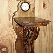 Для дома и интерьера ручной работы. Ярмарка Мастеров - ручная работа Настенная полочка с часами. Handmade.