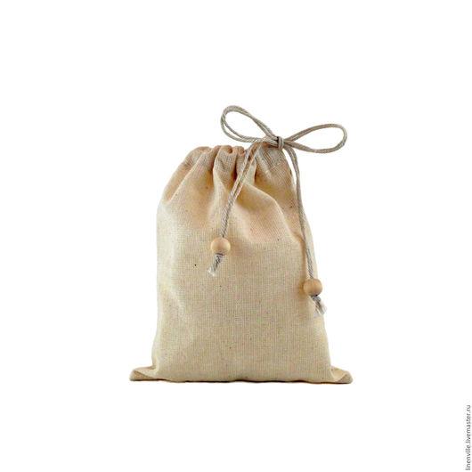 Упаковка ручной работы. Ярмарка Мастеров - ручная работа. Купить Мешочки хлопковые, с кулиской, бежевые. Handmade. Бежевый, упаковка для мыла