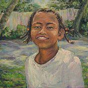Картины и панно ручной работы. Ярмарка Мастеров - ручная работа Девочка с Цейлона. Handmade.