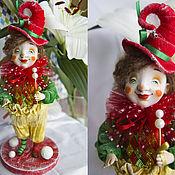 """Куклы и игрушки ручной работы. Ярмарка Мастеров - ручная работа Новогодний клоун """"СМАИЛ"""". Handmade."""