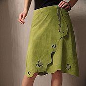 Одежда handmade. Livemaster - original item Suede skirt