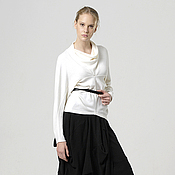 Одежда handmade. Livemaster - original item Jacket Angora white geometric casual charm. Handmade.