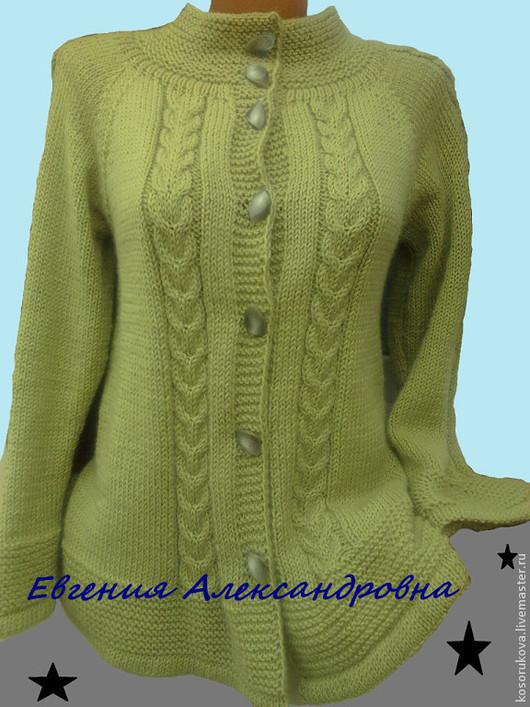 Кофты и свитера ручной работы. Ярмарка Мастеров - ручная работа. Купить Кардиган оливкого цвета. Handmade. Кардиган вязаный