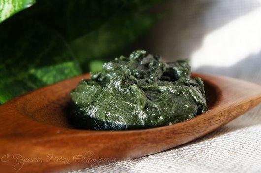"""Мыло ручной работы. Ярмарка Мастеров - ручная работа. Купить """"Дары Моря"""". Очищающее крем-мыло для лица. Handmade. Зеленый"""