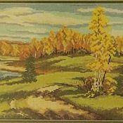 """Картины и панно ручной работы. Ярмарка Мастеров - ручная работа Вышитая картина """"Осенний пейзаж"""". Handmade."""