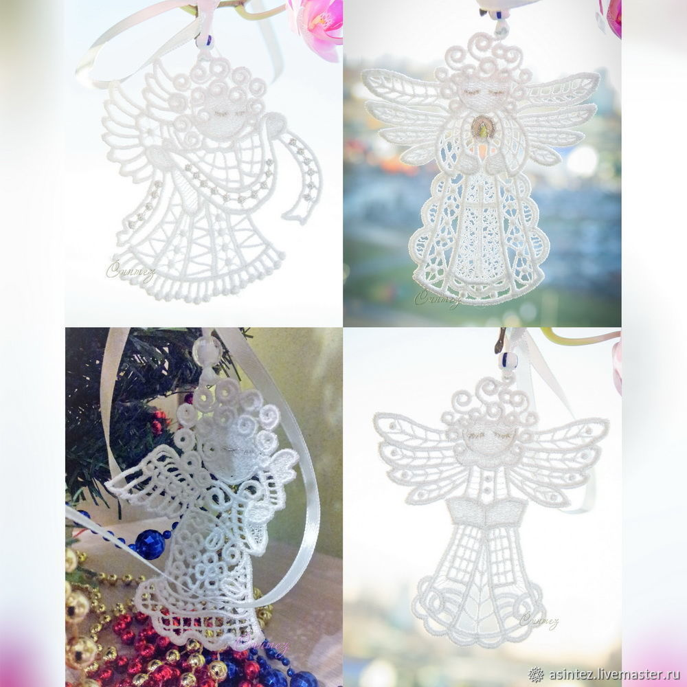 Angel pendant for luck embroidered souvenir, Toys for cribs, Moscow,  Фото №1