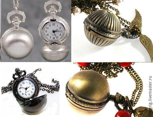 """Часы ручной работы. Ярмарка Мастеров - ручная работа. Купить Часы-кулон """"Снитч"""". Handmade. Часы, подарок девушке"""