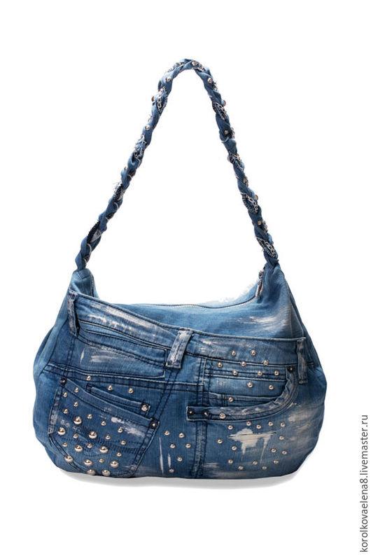 Женские сумки ручной работы. Ярмарка Мастеров - ручная работа. Купить Джинсовая сумка на лето. Handmade. Сумка джинсовая, синий