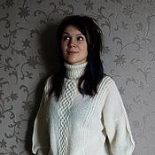Одежда ручной работы. Ярмарка Мастеров - ручная работа Просто белый свитер. Handmade.