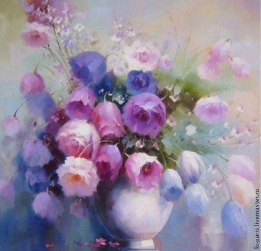 Алмазная картина `Букет роз`