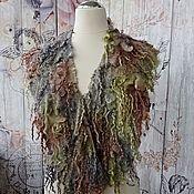Аксессуары handmade. Livemaster - original item Felted fur collar made of wool and curls Ecomex handmade. Handmade.