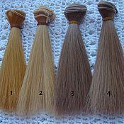 Материалы для творчества ручной работы. Ярмарка Мастеров - ручная работа Волосы прямые 15см 4 цвета. Handmade.