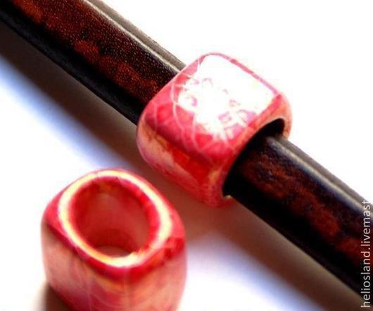 Для украшений ручной работы. Ярмарка Мастеров - ручная работа. Купить Керамические бусины регализ розовый мрамор. Handmade. Бусины