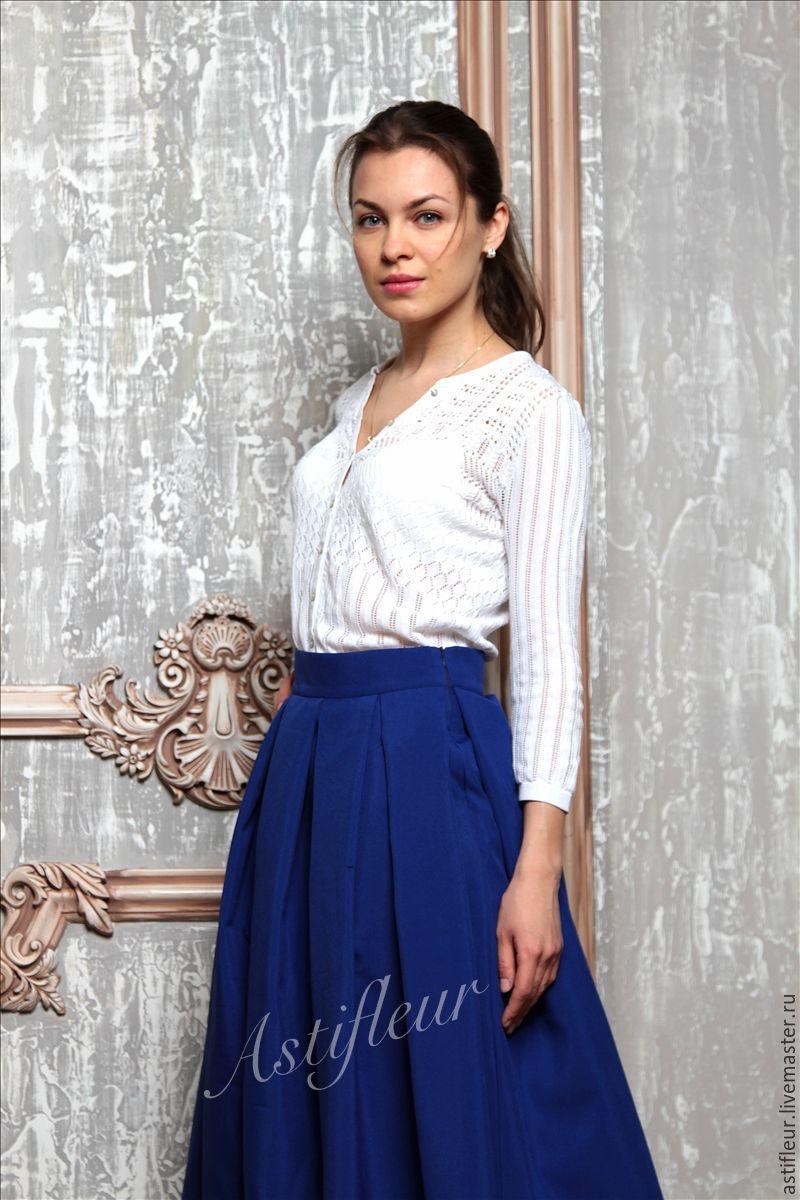 Синие юбки больших размеров купить