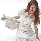 """Одежда ручной работы. Ярмарка Мастеров - ручная работа Валяное платье """"Fairy tale of December"""". Handmade."""
