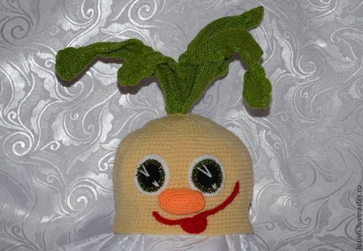 Карнавальные костюмы ручной работы. Ярмарка Мастеров - ручная работа. Купить Репка. Handmade. Желтый, карнавальная шапка