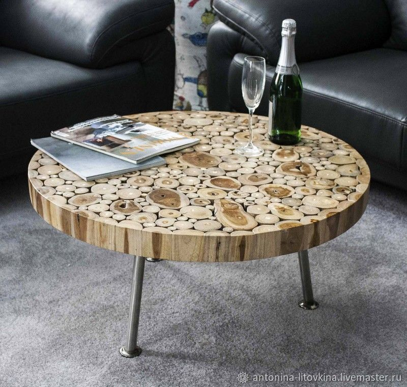 Table made of sawn wood, Tables for the garden, Belgorod,  Фото №1