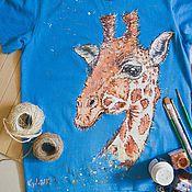 Одежда handmade. Livemaster - original item children`s t-shirt Giraffe. Handmade.