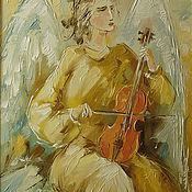 Картины и панно handmade. Livemaster - original item Angel with violin. Handmade.