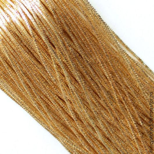 Для украшений ручной работы. Ярмарка Мастеров - ручная работа. Купить Трунцал 4-х гранный 1,5 мм, цвет Золото, Индия. Handmade.
