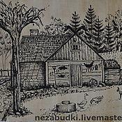 Картины и панно ручной работы. Ярмарка Мастеров - ручная работа Картина «Деревня Викингов». Handmade.