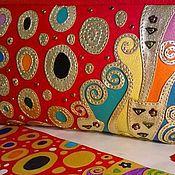 """Сумки и аксессуары ручной работы. Ярмарка Мастеров - ручная работа Кожаный клатч """"Золотой Климт"""". Handmade."""