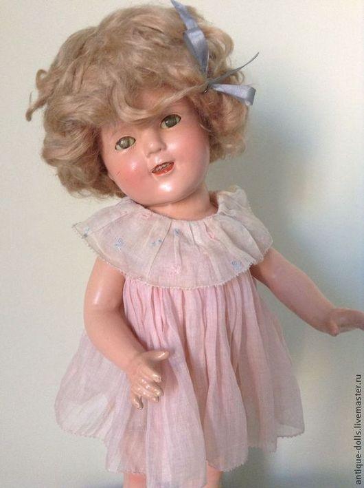 Винтажные куклы и игрушки. Ярмарка Мастеров - ручная работа. Купить Антикварная кукла Shirley Temple. Handmade. Американская кукла, композит