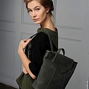Сумки и аксессуары handmade. Livemaster - original item Backpack dark green