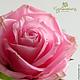 Цветы ручной работы. Ярмарка Мастеров - ручная работа. Купить Роза из полимерной глины. Холодный фарфор.. Handmade. Розовый