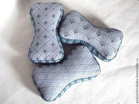 Текстиль, ковры ручной работы. Ярмарка Мастеров - ручная работа. Купить Подушки косточки с вышивкой. Handmade. Голубой, авторская работа
