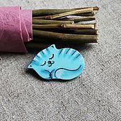 Украшения ручной работы. Ярмарка Мастеров - ручная работа Брошь Спящий котёнок. Handmade.